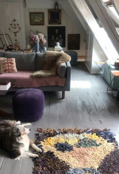 Helena Christensen's home. Helena Christensen, Eclectic Living Room, Living Rooms, Interior Decorating, Interior Design, Fabulous Fabrics, Vintage Bohemian, Vogue Australia, Shag Rug