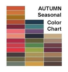 Autumn color chart by tracy.p.farrington