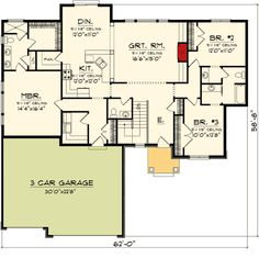 Craftsman Ranch Home with Video - 89866AH | Northwest, Ranch, 1st Floor Master Suite, CAD Available, Jack & Jill Bath, PDF, Split Bedrooms | Architectural Designs
