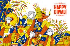 Illustration about Illustration of kid celebrating happy Diwali Holiday doodle background for light festival of India. Illustration of cracker, hinduism, happiness - 78380907 Diwali Craft, Diwali Rangoli, Design Shop, Diwali Vector, Diwali Dhamaka, Diwali Festival Of Lights, Welcome To School, Happy Diwali Images, Doodle Background