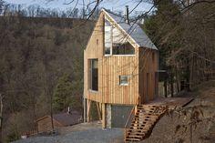 A hexagon-shaped wooden house by A.LT Architekti