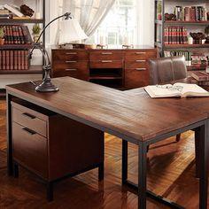 Palmer Return Desk In Palmer Mango  http://www.arhaus.com/furniture/home-office-furniture/desks/palmer-return-desk-in-palmer-mango/