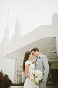 Wedding at the Washington D.C. Temple and Reception at The Barns at Hamilton Station | Photography Du Jour Blog