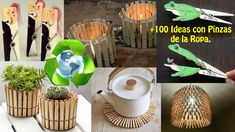 Reciclar Pinzas de Ropa +100 Ideas / Recycling clothespins +100 Ideas