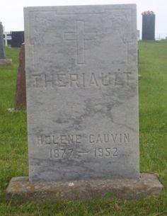 Gauvin, Helene & Theriault, Henri C.  | Simon & St.Jude Cemetery – Grande Anse | New Brunswick Genealogy