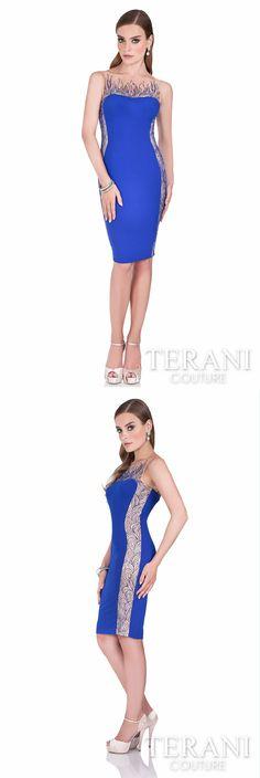 9c93e26f7f Terani Couture - 2016 Cocktail Dress Style  1611C0025  cocktaildress   shortdress  sleevelessdress