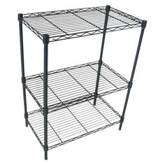 $20.99 Target---Room Essentials™ Black 3-Tier Wire Shelving .  Blogger posted about how they are awesome, easy to put together shelves for classroom library. Enough room underneath for a standard size pillow to use for reading nook.