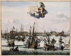 Overwinningh van de Stadt Cotchin op de Kust van Mallabaer - Dutch capture of Kochi (Cochim) in 1662, on the coast of Malabar. (Wikipedia)