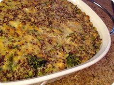 Quinoa Casserole with Broccoli & Cannellini Beans from TJ's test kitchen. Her blog is a favorite!