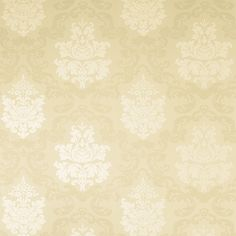 Laura Ashley Delancy Damask wallpaper in gold was £37, now £15
