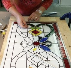 """""""technique of professionals,"""" the lead came method is the centuries-old method used to create stunning windows around the world. This class will let you expand your glass skills and learn the lead came method. Stained Glass Paint, Making Stained Glass, Stained Glass Panels, Stained Glass Projects, Leaded Glass, Stained Glass Patterns Free, Stained Glass Designs, Mosaic Art, Mosaic Glass"""