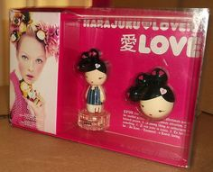 Gwen Stefani Harajuku Lovers Love Eau de toilette Spray Gift set with Solid Perfume $34.99 Ebay for sale New!