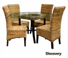 Discovery Wicker Dining Room Set | Caprisd Furniture Dining Room Series 700