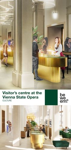BWM Architekten won the competition for a future-oriented visitor's centre at Vienna's State Opera. The space, like a stage, is transformed as the day progresses. During the day, the focus is on the information and ticket service; in the evening, Vienna's music lovers meet up here. PROJECT_Visitor's centre at the Vienna State Opera (@wienerstaatsoper) DEPARTMENT_Culture LOCATION_Vienna Images: © BWM Architekten Herbert Von Karajan, Vienna State Opera, Meeting Place, Music Lovers, Hospitality, Ticket, Opera House, Competition, Centre