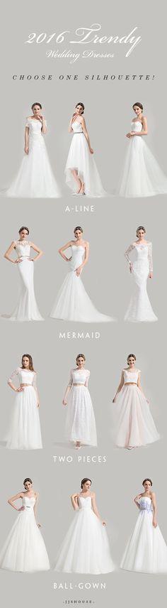 2016 Trendy Wedding Dresses,Choose one Silhouette for your bride! #Weddingdresses