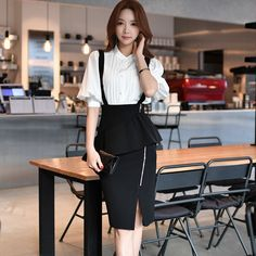 dabuwawa suspender skirt 2017 spring OL new slim waist sexy fashion casual knee length pencil skirts women pink doll *** Read more at the image link. Classy Outfits, Cute Outfits, Suspender Skirt, Lolita, Mini Vestidos, Korean Outfits, Casual Skirts, Looks Cool, Skirt Outfits