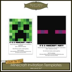 Mine Crafting Invite Mine Crafting Birthday Dynamite Birthday Tnt