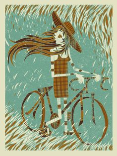 """girl on a bike"""