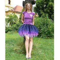b5c2d178195 Modro-fialová tylová sukně   Zboží prodejce Princezna Pampeliška