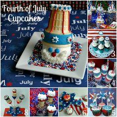 Fourth of July Cupcakes on HoosierHomemade.com