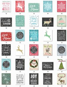 30 Christmas Printables MEGA PACK - 8x10 Holidays, Christmas Decor, Let It Snow, Merry and Bright, Christmas Print, Holiday Decor, Xmas