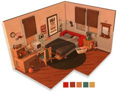 Building Games 725924033669899370 - Another little dollhouse edit because apparently that's all I have time for ✌️ Source by cocofuntiti Lotes The Sims 4, Sims Four, Sims Cc, Sims 4 House Plans, Sims 4 House Building, Building Games, Casas The Sims Freeplay, Sims 4 Bedroom, Sims 4 House Design