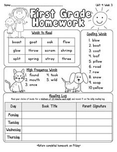 Attach this cute homework sheet to your weekly homework packet. Each page includes important words to read that focus on the phonics skills for the week, spelling words, weekly HFW and a reading log. *Use with Pearson Reading Street Unit 4Enjoy :)Denise Gutierrez