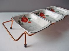 1950s Vintage Serving Dishes : Midwinter Rose Marie, Staffordshire England on Etsy, $48.00