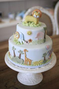jungle themed first birthday cake, by Bobbette & Belle cake-art-gallery