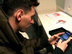 Detinatorul Balonului de Aur a trecut de la Samsung la Huawei.Messi are un telefon nou! Vezi pe Cloe.ro