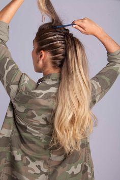 Women's Fauxhawk: A No-Cut Tutorial for Longer Hair