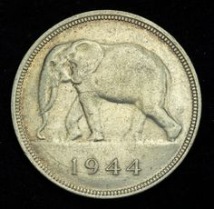 Belgian Congo coins 50 Francs Silver Coin of 1944 African Elephant Elephant Art, African Elephant, Saving Coins, French Coins, Belgian Congo, Silver Investing, Canadian Coins, Coin Art, Show Me The Money