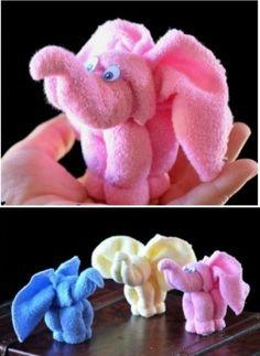 DIY Washcloths Elephant
