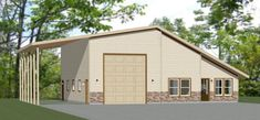 46x48 House -- #46X48H4E Garage Floor Plans, Small House Floor Plans, Garage To Living Space, Living Spaces, Garage Apartments, Shed Homes, Vinyl Siding, Tiny House Design, Shed Plans