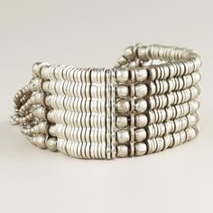 Silver Mixed Media Chain Bracelet | World Market