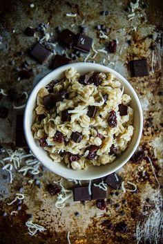 Chocolate Coconut Cherry Oatmeal Breakfast Bowl- Vegan anf GF