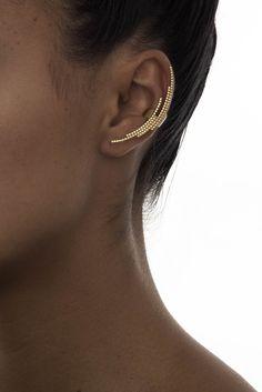 crescent ear cuff - gold
