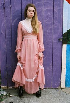 Gunny Sack dress! my mom always wanted me to wear these. I felt like Little House on the Prairie -- Mine was baby blue
