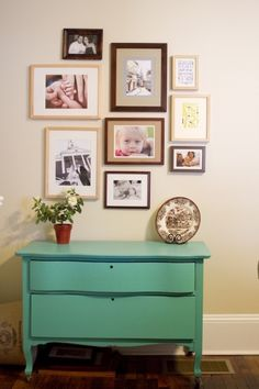 Photo wall display... thinking of the guest room with photos of past guests =D