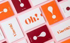 Vine Oh wine branding and packaging by morgan Brand Identity Design, Corporate Design, Branding Design, Cake Branding, Wine Brands, Invitation Card Design, Flyer, Graphic Design Inspiration, Ui Inspiration