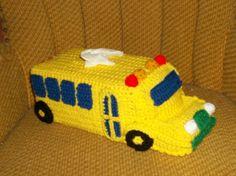 School Bus Tissue Box