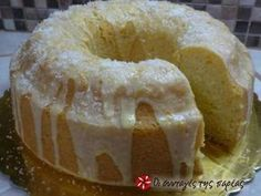 Fluffy eggless, milkless and butter less cake Greek Sweets, Greek Desserts, Vegan Desserts, Delicious Desserts, Greek Recipes, Easy Sweets, Sweets Recipes, Easter Recipes, Cake Recipes