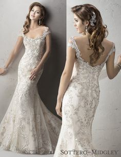 Gorgeous lace takes over wtoo 39 s fall 2016 collection for Fit and flare wedding dress body type