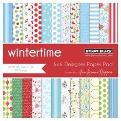 Penny Black 6 x 6 Paper Pad - Wintertime