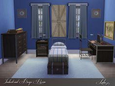 Industrial Boys Room by Lulu265 at TSR via Sims 4 Updates