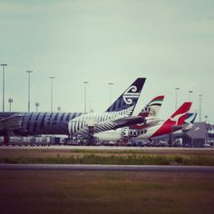 All lined up, Brisbane Airport