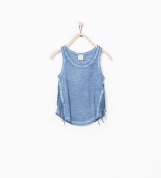 Image 1 of T-shirt with side fringes from Zara
