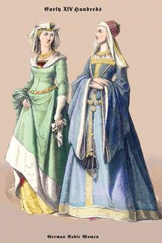 15th Century | German Noblewomen, 15th Century - Amy, they found this old picture of us somewhere!