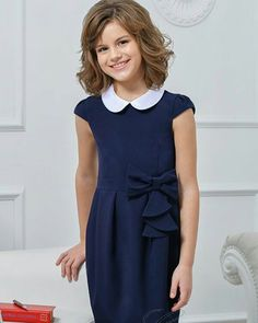 School Girl Dress, School Dresses, School Uniform Girls, Little Girl Dresses, Girls Dresses, Flower Girl Dresses, Tween Fashion, School Fashion, Vip Dress