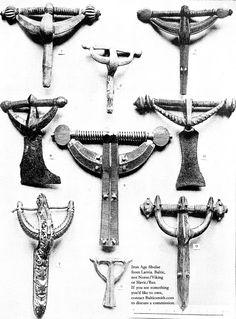 Iron Age fibulae from Latvia. Baltic, not Norse/Viking or
